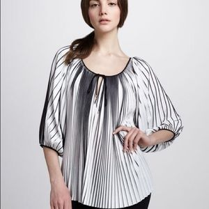 DVF New Keoni Pleated Accordion Blouse